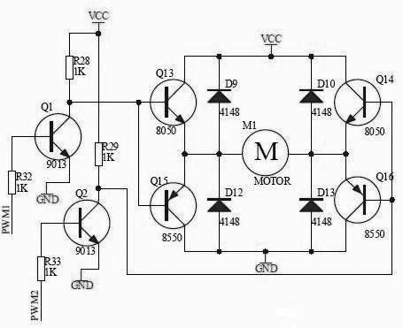 l298n电机驱动接线电路图